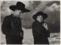 Lot #1257: ANSEL ADAMS - Georgia O'Keeffe and Orville Cox, Canyon de Chelly National Monument, Arizona - Original photogravure
