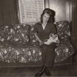 Lot #1854: DIANE ARBUS - Mrs. Gladys 'Mitzi' Ulrich with Sam, a Baby Stump-tailed Macaque Monkey - Original vintage photogravure
