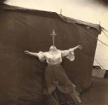 Lot #744: DIANE ARBUS - Albino Sword Swallower at a Carnival, Maryland - Original vintage photogravure