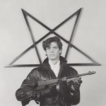 Lot #1674: ROBERT MAPPLETHORPE - Self-portrait with Gun and Star - Original vintage photogravure