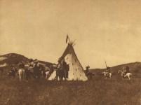 Lot #1661: EDWARD S. CURTIS - Sioux Camp - Original photogravure