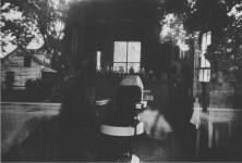 Lot #1444: ROBERT FRANK - Barber Shop through Screen Door, McClellanville, South Carolina - Original photogravure