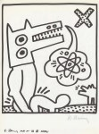Lot #1836: KEITH HARING - Naples Suite #24 - Lithograph