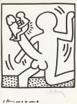 Lot #1835: KEITH HARING - Naples Suite #26 - Lithograph