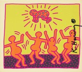 Lot #545: KEITH HARING - Fertility Suite #1 - Original offset lithograph