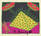 Lot #2057: KEITH HARING - Fertility Suite #2 - Original offset lithograph