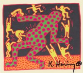 Lot #544: KEITH HARING - Fertility Suite #3 - Original offset lithograph