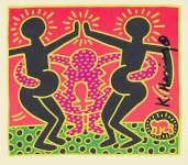 Lot #543: KEITH HARING - Fertility Suite #5 - Original offset lithograph