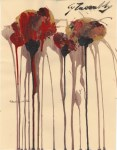Lot #55: CY TWOMBLY - Untitled Study (#3) - Oil and acrylic on paper
