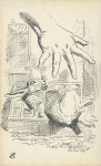 Lot #1475: JOHN TENNIEL - Alice Dropping the White Rabbit - Ink on paper