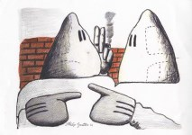 Lot #787: PHILIP GUSTON - Untitled #2 - Colored pencils and pencil drawing on paper