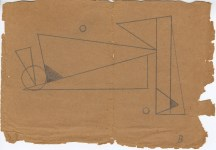 Lot #1050: RUDOLF BAUER - Non-Objective Solitary Confinement Prison Drawing [No.11] - Pencil drawing on paper