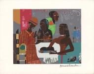 Lot #198: ROMARE BEARDEN - Salome with the Head of John the Baptist - Original color silkscreen