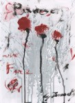 Lot #1536: CY TWOMBLY - Untitled Study #4 - Oil and acrylic on paper