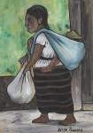 Lot #261: DIEGO RIVERA - Pepenadora con Niño - Watercolor on paper