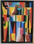 Lot #1373: CARLOS MERIDA - Cinco Huicholes - Acrylic on paper