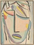 Lot #25: ALEXEJ VON JAWLENSKY - Weiblicher Kopf - Watercolor and pen and ink on paper