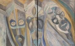 Lot #1472: KARIMA MUYAES - Ancestors - Oil on canvas