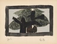 Lot #1169: GEORGES BRAQUE - L'arbre - Original hand-colored gouache pochoir on collotype