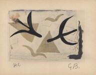 Lot #1030: GEORGES BRAQUE - Oiseaux - Original hand-colored gouache pochoir on collotype