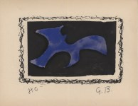 Lot #524: GEORGES BRAQUE - Forme - Original hand-colored gouache pochoir on collotype