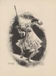 Lot #1441: AL HIRSCHFELD - Baris Dancer, Bali - Original lithograph