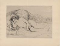Lot #547: PIERRE-AUGUSTE RENOIR - Femme couchée (tournée à gauche) - Original etching