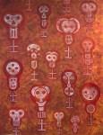 Lot #68: KARIMA MUYAES - Tzompantli - Acrylic on canvas