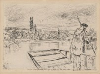 Lot #1588: JAMES A. M. WHISTLER - The Punt - Original etching & drypoint