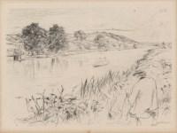 Lot #1655: JAMES A. M. WHISTLER - Sketching - Original etching & drypoint