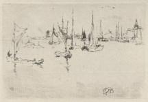 Lot #1418: JAMES A. M. WHISTLER - Boats, Dordrecht - Original etching