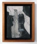 Lot #259: KARIMA MUYAES - Personaje y pájaro - Carborundum & marble powder on canvas