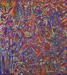 Lot #955: KARIMA MUYAES - Rain - Oil on canvas