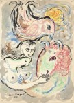 Lot #1161: MARC CHAGALL - Les amoureux - Mixed media on paper