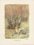 Lot #976: E(RNEST) H(OWARD) SHEPARD - Pooh and Piglet Look on … - Original color offset lithograph
