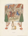 Lot #1950: E(RNEST) H(OWARD) SHEPARD - Knights and Ladies - Original color offset lithograph