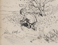 Lot #1374: E(RNEST) H(OWARD) SHEPARD - Christopher Robin - Pen and ink drawing on paper