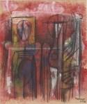 Lot #593: RUFINO TAMAYO - Dos figuras - Mixed media on paper