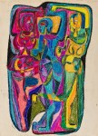 Lot #225: STEVE WHEELER - Rabo Is the Best - Mixed media (tempera, color crayons, pen and ink) on paper