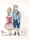 Lot #1347: ESTELA WILLIAMS - Costume Design: 'House of Desires' - Watercolor, ink, and colored pencils on paper