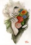 Lot #1385: ESTELA WILLIAMS - Chagall - Watercolor on paper