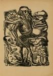 Lot #1145: JOSE CHAVEZ MORADO - Los Huesitos de Cortes - Woodcut