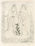 Lot #557: GEORGES BRAQUE - Eurybia and Eros - Original etching and drypoint