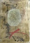 Lot #168: ANTONI TAPIES - Sin Titulo - Mixed media on textured pasteboard