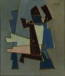 Lot #1354: ALBERTO MAGNELLI - Composizione, 1957 - Oil on board