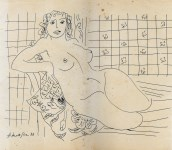 Lot #2060: HENRI MATISSE [imputee] - Femme nue - Pen and ink drawing on paper