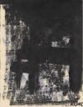 Lot #193: FRANZ KLINE - Sans titre - Mixed media (oil, watercolor, and ink) on paper
