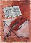 Lot #1165: RAOUL DUFY - Le violon - Gouache and watercolor drawing on paper