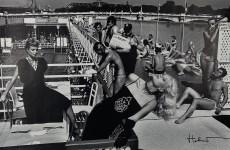 Lot #978: HELMUT NEWTON - Piscine Deligny, Jewels and Fashion, River Seine, Paris - Original photolithograph