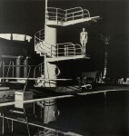 Lot #299: HELMUT NEWTON - Nude, Diving Tower, Old Beach Hotel, Monte Carlo - Original vintage photolithograph